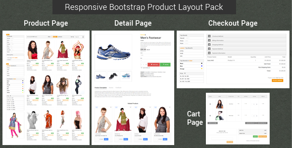 Responsive Bootstrap Product Layout Pack - CodeCanyon Item for Sale