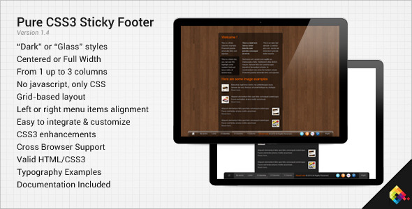 CodeCanyon Pure CSS3 Sticky Footer 128701
