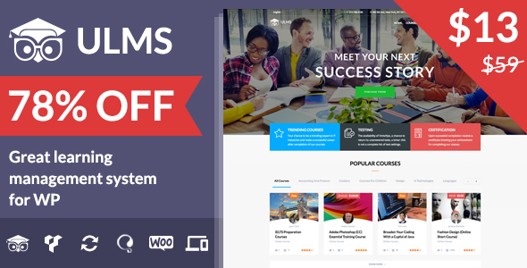 Download ULMS - Universal Learning Management System nulled download