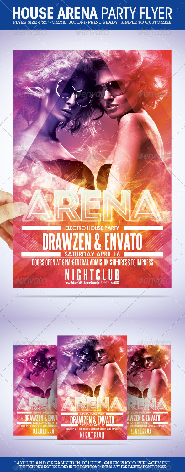 GraphicRiver Arena Party Flyer 232010