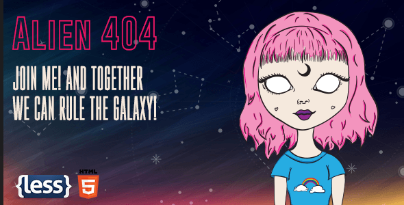 Alien - Animated Error 404 Page