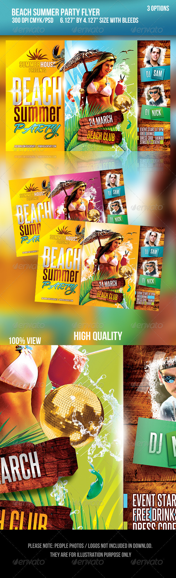 GraphicRiver Beach Summer Party Flyer 1875347