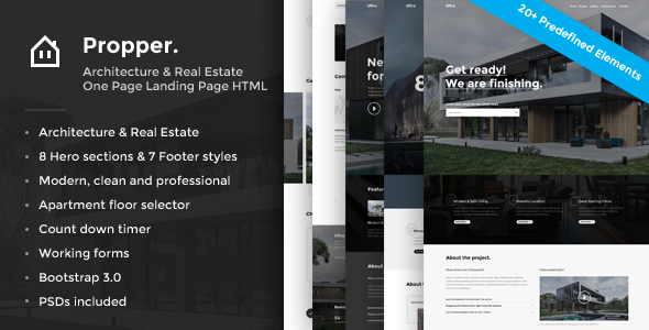 Propper - Architecture HTML Template (Landing Pages)