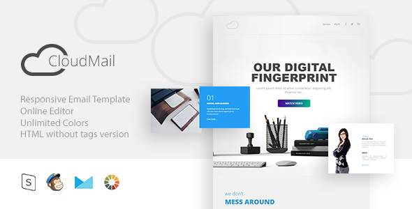 cloud Mail – Responsive E-mail + StampReady Builder (E-mail Templates)