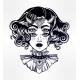 Devil Girl Portrait with Gothic Collar, Four Eyes.