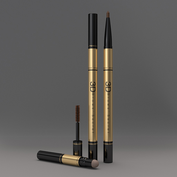 Cosmetic Packaging 3 in 1 Eye Brows Product - 3DOcean Item for Sale