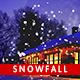 Snow Fall Photo Template