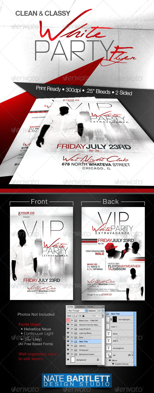 GraphicRiver White Party Event Flyer 301878