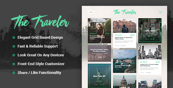 The Traveler - Responsive WordPress Blog Theme
