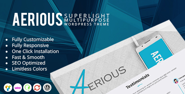 Download Aerious - Super Light Multipurpose WordPress Theme nulled download