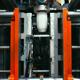 Plastic Press Molding Machine Work (Stock Footage)