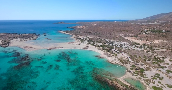VideoHive Beautiful View of Blue Beach Elafonissi at Crete 19070905