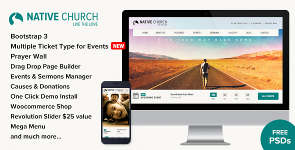 preview image1 large preview.  large preview - NativeChurch - Multi Purpose WordPress Theme