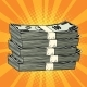 Stack of Money Dollar Pop Art Retro