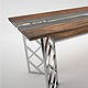 Live Edge - Wooden Glass Table