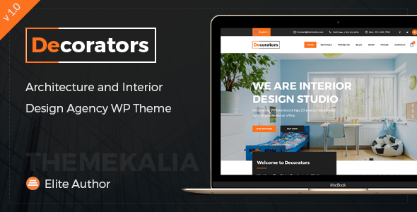 Decorators – WordPress Theme for Architecture &amp Contemporary Interior Style Studio (Business enterprise)