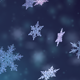Sparkling Snowflakes Christmas Background