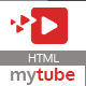 MyTube - Video Theme HTML Template For Youtube, Vimeo  & Daily Motion Clips