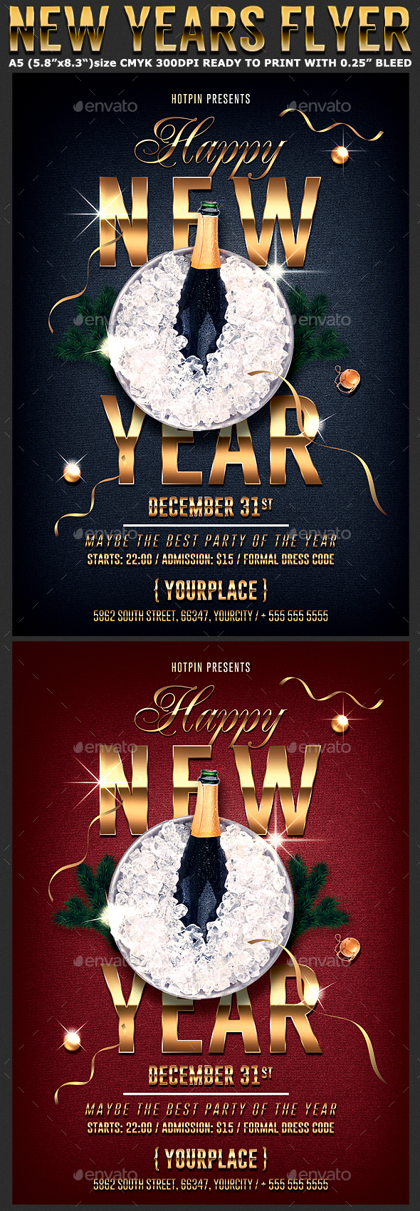 Classy New Year Flyer Template