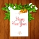 New Year Best Wishes Vector Poster