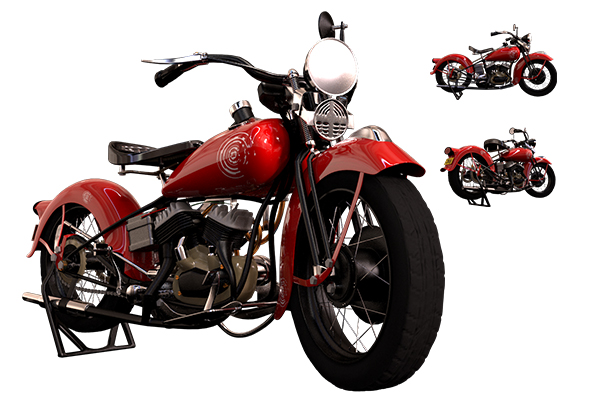 Moto harley davidson 1936 - 3DOcean Item for Sale