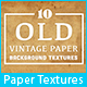 10 Old Vintage Paper Background Textures