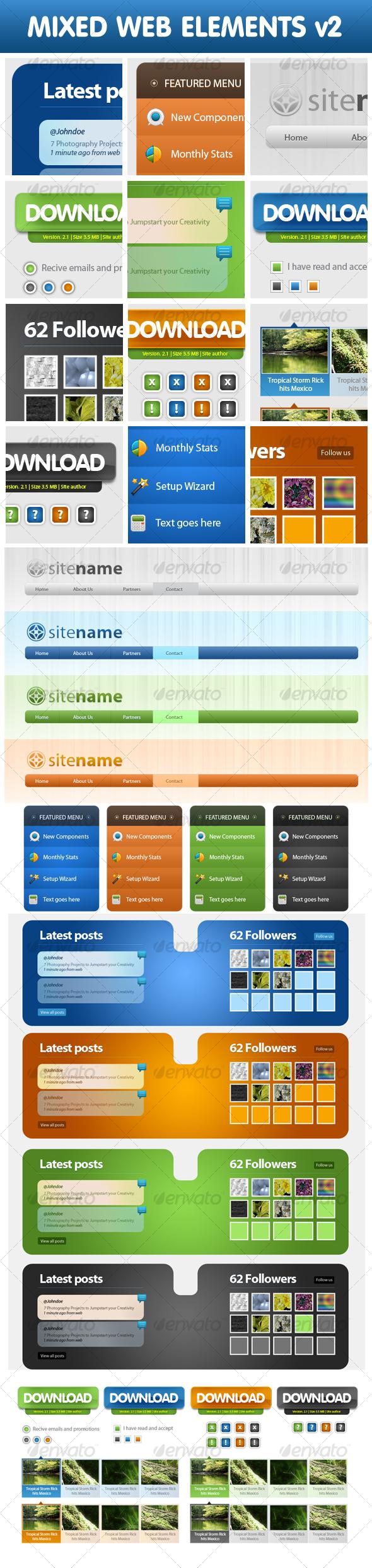 GraphicRiver Mixed Web Elements v2 72767