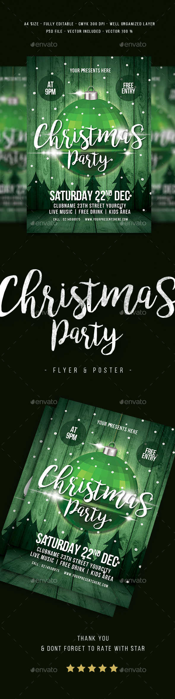 Christmas Party Flyer Vol.3