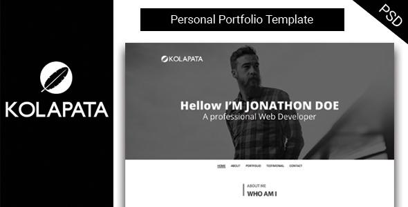 Kolapata One-Page Personal Portfolio Template