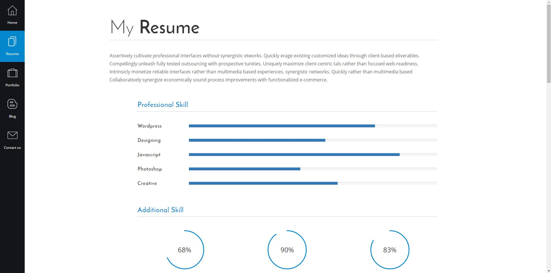 mr lancer personal cv resume template angular version by mr lancer personal cv resume template angular version