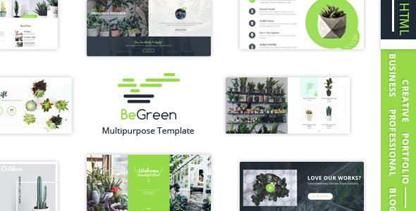 BeGreen - Multi-Purpose Template for Planter - Landscaping- Gardening