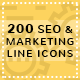 SEO and Marketing Line Icons