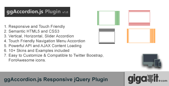 Download ggAccordion - A Responsive jQuery Plugin nulled download