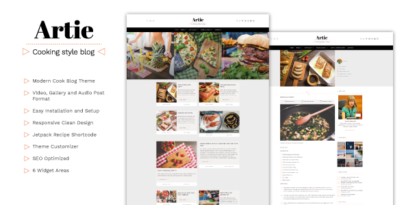 Download Artie - Food Blog WordPress Theme nulled download