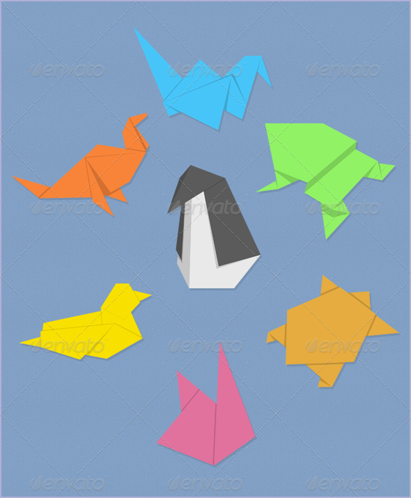 Graphic River Origami Animals Graphics -  Illustrations  Animals 1876472