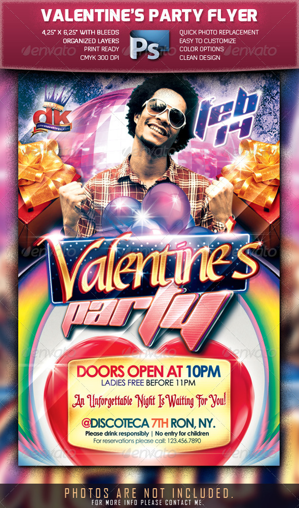 GraphicRiver Valentine s Party Flyer Template 1210344