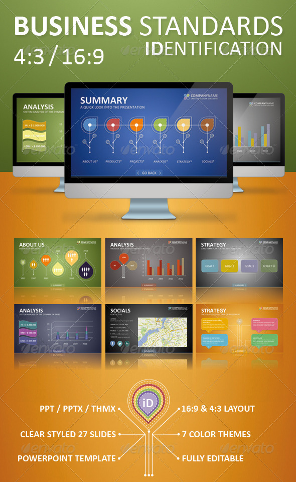 Business Standards: Identification - Business Powerpoint Templates