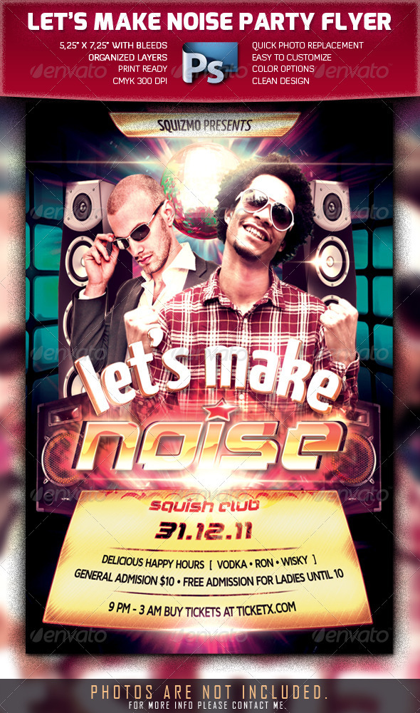 Let's Make Noise Flyer Template - Clubs & Parties Events