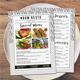Monochrome Restaurant Menu + Business Card