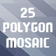 Abstract Polygon Mosaic Backgrounds
