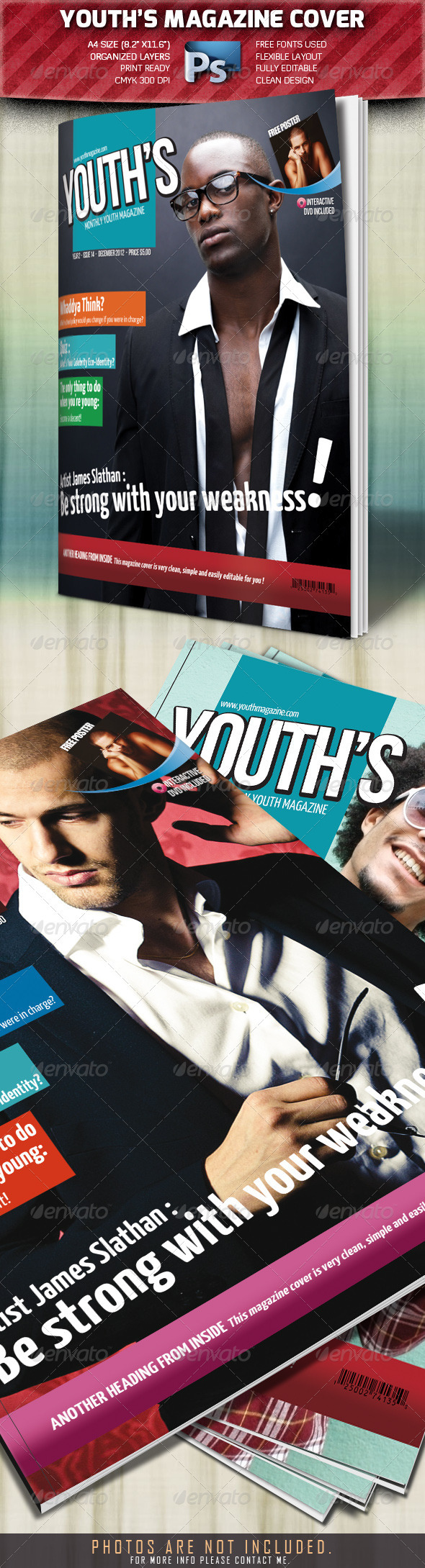 Youth's Magazine Cover - Magazines Print Templates