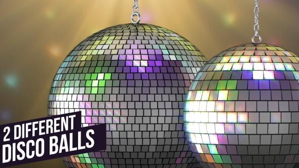 VideoHive Blinking Light Silver Disco Balls 19081346