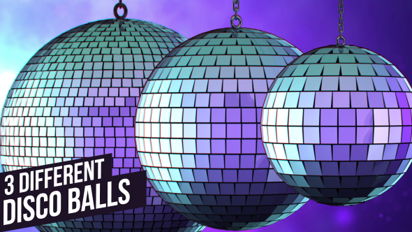 VideoHive Purple Disco Balls 19081396