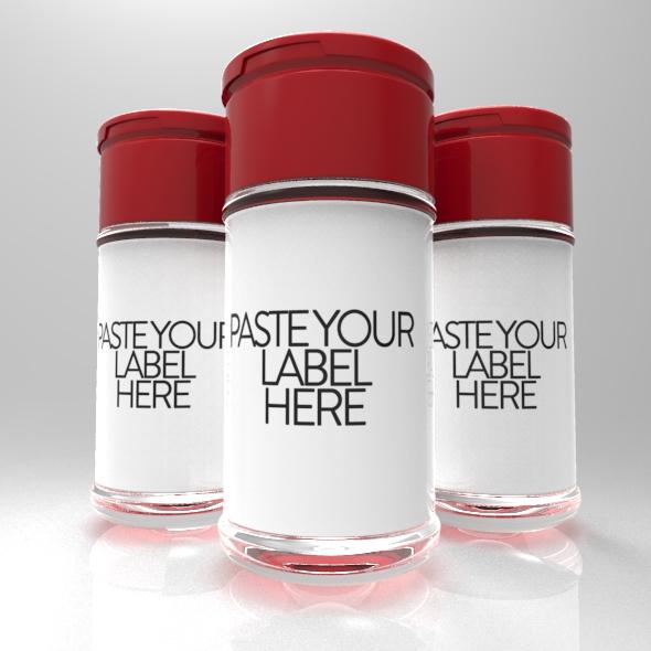 Powder & 3 Supplement Bottle for Amazon - 3DOcean Item for Sale