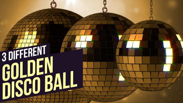 VideoHive Golden Disco Balls 19081475