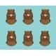 Bear Emotion Icon Set
