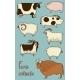 Set of 8 Farm Animals