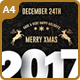 Christmas Party Flyer - 2017 Happy New Year