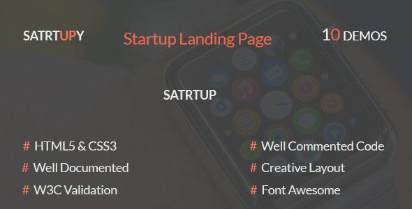 STARTUPY - Startup Landing Page