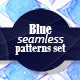 Blue Watercolor Patterns Pack